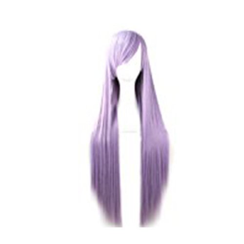 Merssavo Langen Geraden Perücke Cosplay Haarteil für Frauen 80cm