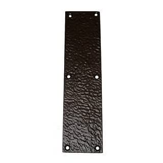 Rustic Style Door Finger Plate in Black Cast Iron