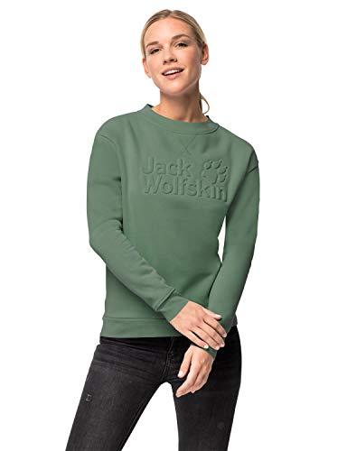 Jack Wolfskin Damen Winter Logo Sweatshirt W, ming Green, S