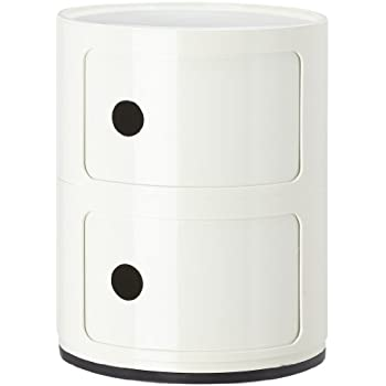 kartell componibili round storage unit 2 drawer white. Black Bedroom Furniture Sets. Home Design Ideas