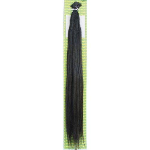 'Dream Hair Stick Extensions 100 Pieces Str 22 : 1b 22/56 cm Human Hair Extensions de cheveux Noir naturel (Extension de cheveux 56 cm 100s)