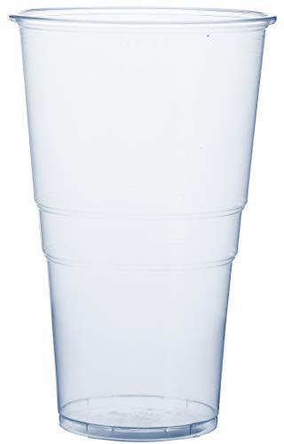 RAGO Plastikbecher 50 Stück, Premium EINWEG Becher 0,5l, Transparent 500 ml Groß (Groß Bier-becher)