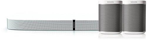 Sonos 5.0 Heimkino Set | System aus Playbase und 2x Play:1 (Weiß), Stadion-Surround-Sound Set