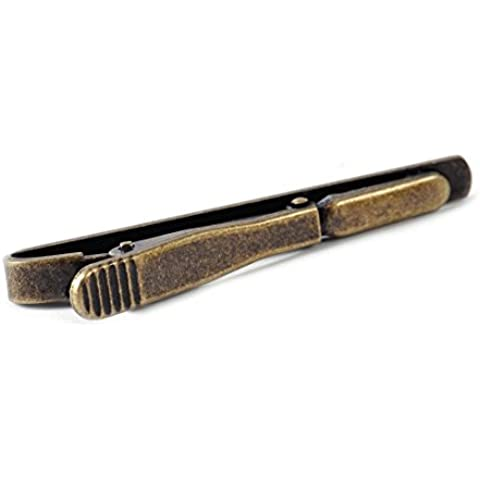 Eastar Regalo Pin morsetto Moda Uomo Metallo Argento Oro Semplice cravatta Tie Bar clip del catenaccio-Ottone