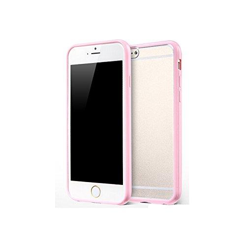 Bumper en silicone TPU avec Back Cover Protection de zhink Arts pour rose