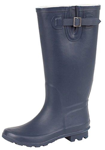 Regenstiefel, Schneestiefel, Gummistiefel von Lora Dora, für Damen, Größe 3–8 (UK), Blau - marineblau - Größe: 35.5 Breite Kalb Stiefel Größe 8 Für Frauen