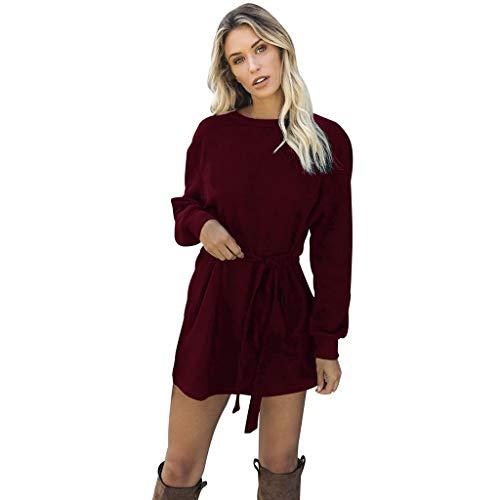 Damen Pullover Kleid Langarm Winterkleid Strickkleid Rollkragenpullover Mode Strickpullover Lose Sweatkleid Minikleid Longshirt Kleid Herbst...