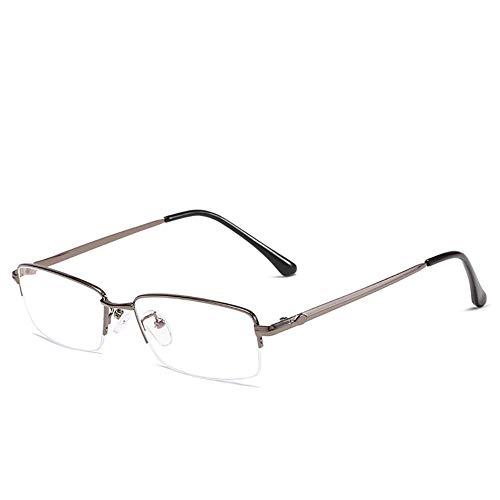 Männer Anti-Blau Brille, Metallrahmen Brille, Gaming Lesen Computer Telefon Anti-Blau Brille 0.00 Linsenstärke-2