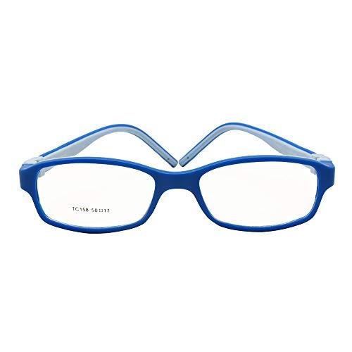 EnzoDate Kinder optische Gläser Rahmengröße 50 Silikon Sicherheit flexible Tempel Kinder Brillen unzerbrechlich Jungen Mädchen