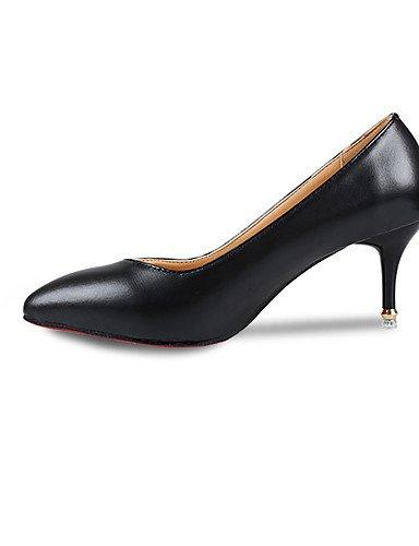GS~LY Da donna-Tacchi-Casual-Tacchi-A stiletto-Finta pelle-Nero / Rosso / Bianco red-us8 / eu39 / uk6 / cn39
