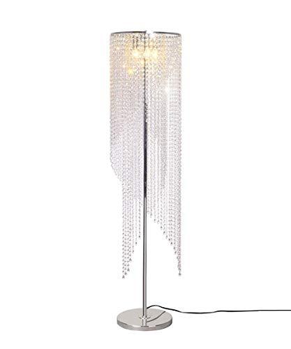 *Stehlampe Kristall Stehlampe Led Fernbedienung Farbe Moderne Wohnzimmer Hochzeitszimmer Net Red Bed K9 Kristall Stehleuchte Schlafzimmer Stehlampe gewölbt