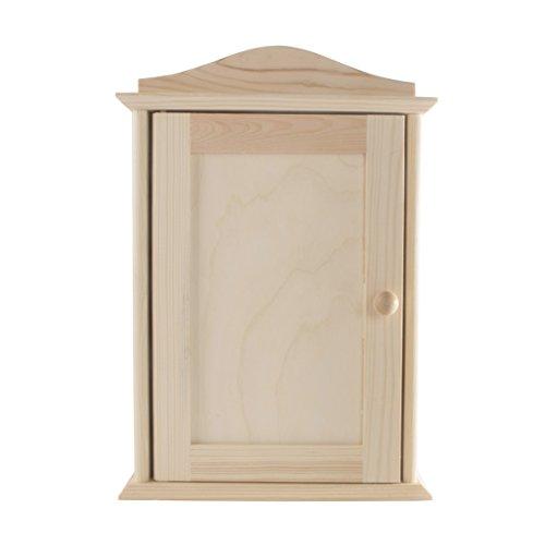 SEARCH BOX Holz Schlüsselkasten Rack Kabinett Inhaber/Wand montiert/Paint Personalisieren DIY/6Haken/20x 6x 29,5cm