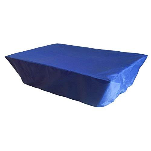 ATR Garten Rattan Möbel Abdeckung Set Abdeckung Billard Tisch Staubschutz Tischtennis wasserdichte Oxford Stoffplane, 2 Farben, 6 Größen (Farbe: Blau, Größe: 260x140cm) -