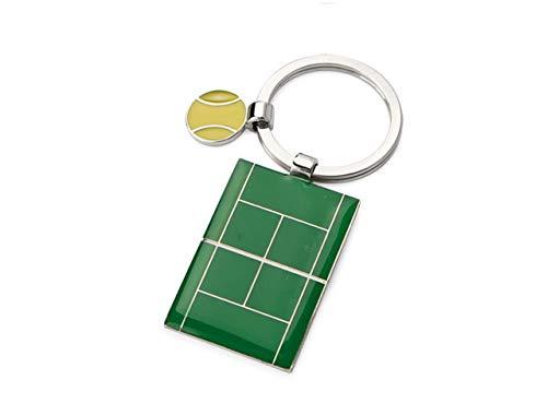 Llavero Cromado de Tenis - Art. EL7277 - LON. 8 cm - ANC. 3,5 cm - Alt. 1 cm - Ten by Varotto & Co.