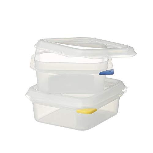 2 x METRO Professional GN 1/6 Behälter mit Deckel   Höhe 65 mm   Vorratsbehälter   Frischhalteboxen   HACCP   Polypropylen   Mikrowellengeeignet   Spülmaschinengeeignet   mit