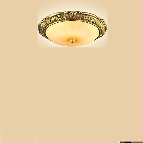 Continental luce da soffitto illuminazione circolare della American Art Nouveau pavimento resina lampade , Balcone ingranaggio in bronzo Tsing Corolla 50cm di diametro il Led a 3 colori