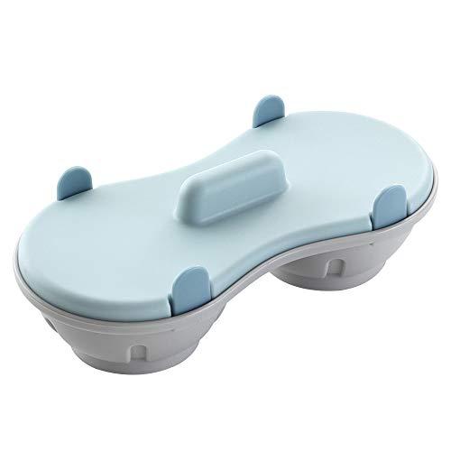 HM2 Mikrowellenherd Zubehör Kochherd Mikrowelle Ei-Wilderer BPA-frei und Spülmaschinenfest Eierkocher Küche -
