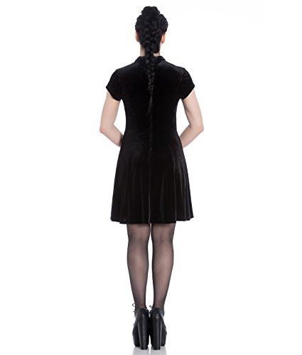 Spin Doctor Mika Velvet Party Mini Dress – UK 20 (3XL)/Black