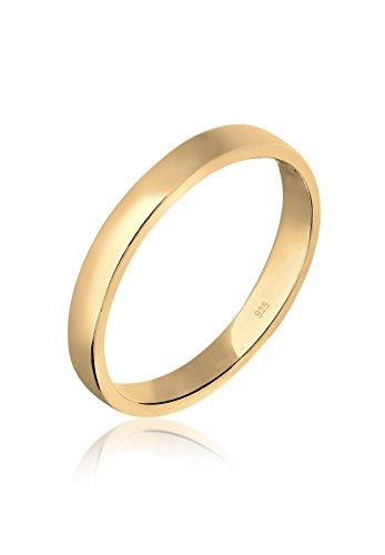 Elli Damen-Ring Basic Zeitlos vergoldet silber 925 Gr. 54 (17.2) 0606730616_54