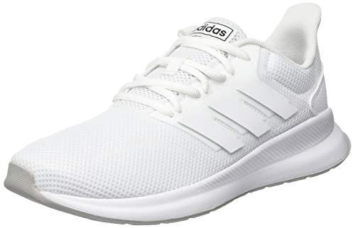 adidas Unisex-Kinder RUNFALCON K Laufschuhe Weiß Footwear (White/Grey 0), 38 EU (Originals Schuhe Kinder Adidas)
