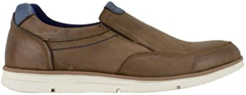 Vicmart - Zapato sin Cordones Sport Cuero Combinado  -