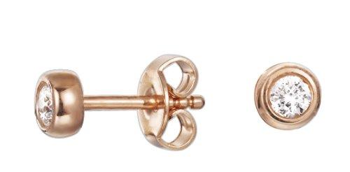 Esprit Damen-Ohrstecker Silber vergoldet rhodiniert Zirkonia ESER92636B000