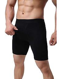 Zamtapary Hombres Ropa Interior De Algodón Cintura Elastica Boxer Briefs