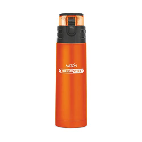 Milton Atlantis 400 Thermosteel Hot & Cold Tea Water Bottle 350 ml Orange