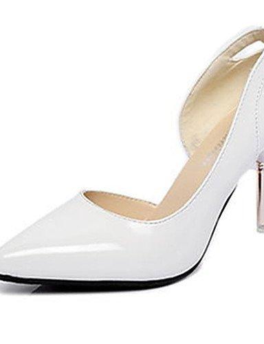 GS~LY Da donna-Tacchi-Casual-Tacchi-A stiletto-Vernice-Rosa / Bianco / Grigio white-us6 / eu36 / uk4 / cn36