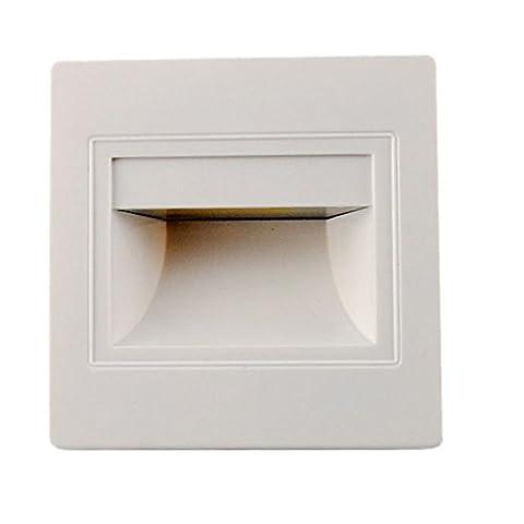 Außen 1.5W LED Wandleuchte Wandeinbauleuchte Deck Lampe Einbau Treppenbeleuchtung - Weiß Warmweiß