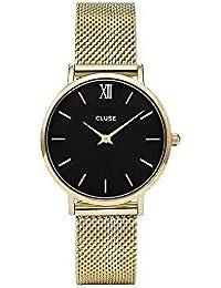 Cluse Damen Armbanduhr Analog Quarz Edelstahl CL30012
