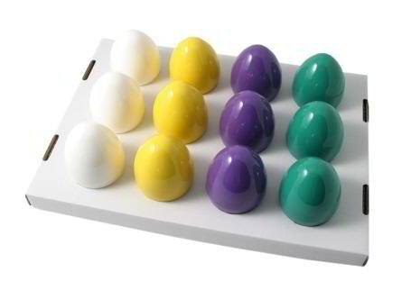 DE-Plastik 3 Stück Thermo-Ei durchsortierte Farben Eier-Wärmer