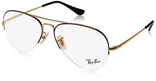 Ray-Ban Unisex-Erwachsene 0rx 6589 2946 59 Brillengestelle, Schwarz (Gold Top Black),