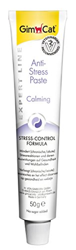 GimCat EXPERT LINE Anti-Stress Paste – Stress-Control Formula mindert Stressreaktionen bei Katzen – Funktionale Katzenpaste ohne Zuckerzusatz – 1 Tube (1 x 50 g)