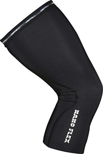 Castelli Nanoflex KneeWarmer, Ginocchiere da Ciclismo Unisex - Adulto, Black, M