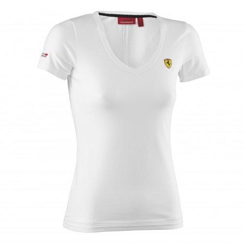 waooh-mode-t-shirt-ferrari-femmes-col-v-scuderia-blanc-taille-l