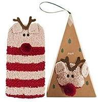 Caomoa Las señoras Lindas de la Moda Calcetines Calcetines de la Novedad Medias de Navidad con una Caja Super Linda