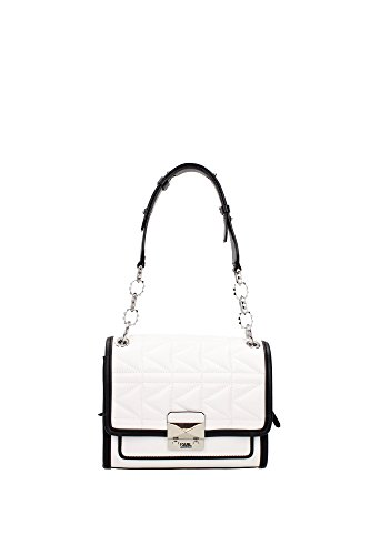 sac-a-bandouliere-karl-lagerfeld-femme-cuir-blanc-noir-et-argent-61kw3019white-blanc-8x17x22-cm