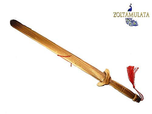 Zoltamulata Wooden Sword lakadee talavaar Khaḍga bokken Cekka Katti Showpieces 23 inch