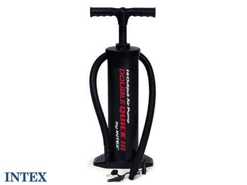 Intex Luftpumpe Handpumpe Kolben Doppelhub Pumpe inkl. 4 Düsen