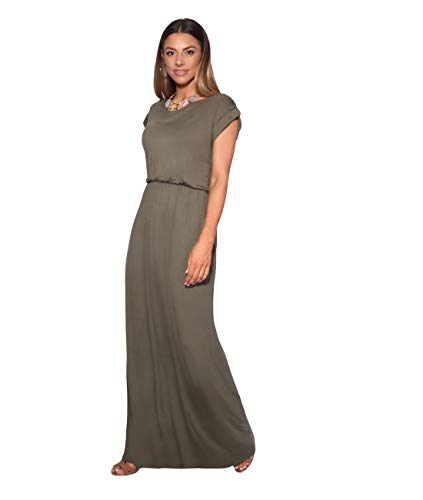 KRISP 3269-KHA-16 Damen Leichtes Kleid (Khaki, Gr.44) (Toga Party Frauen)