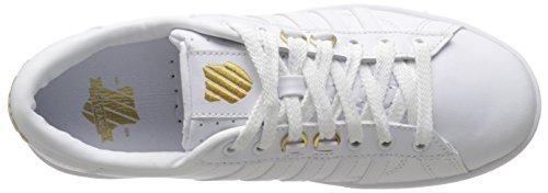 K-Swiss Hoke 50th, Baskets Basses homme Blanc - Weiß (50TH/WHITE/GOLD 955)