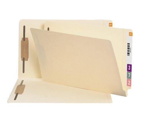 SMEAD 100% recyceltem Ende Tab Verschluss Datei Ordner, shelf-master verstärkt gerade geschnittene Tab, 2Schrauben, Legal Größe, Manila, 50pro Box (37160) -