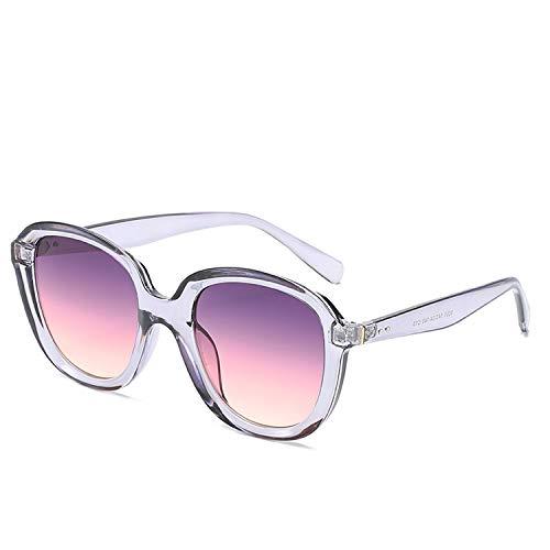 FIRM-CASE Sonnenbrille Runde Vintage Retro Schatten Sun-Glas-Übergroße große schwarze Farbtöne Brillen, 7