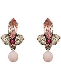 VICKISARGE Damen-Ohrringe Vergoldet Swarovski Kristall Pink/Rosa