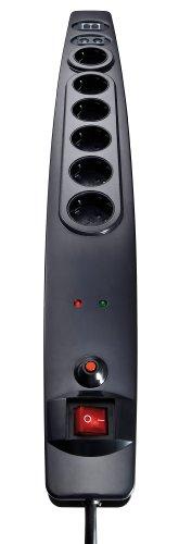 Vivanco 6-fach Steckdosenleiste (Schalter, Überspannungsschutz)