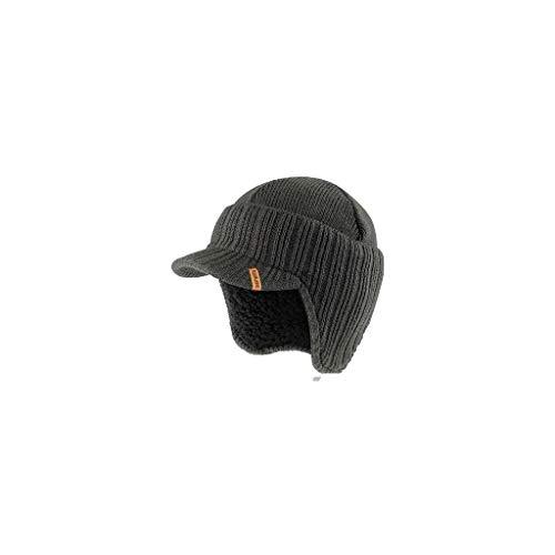 Scruffs T54305 Gorro de punto con visera de color grafito, talla única