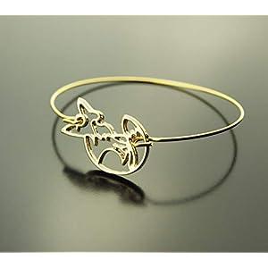 Armreifen Origami Fuchs Armband golden Juvelato