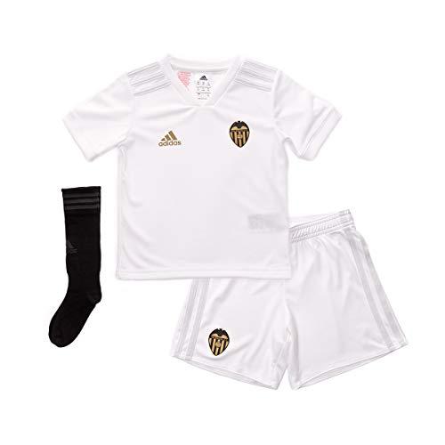 Adidas Valencia CF Primera Equipación Niño 2018-2019, Conjunto, White-Crystal White, Talla 110