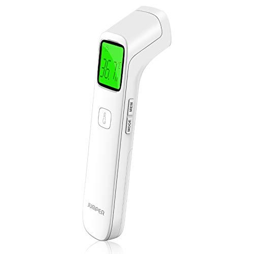 JUMPER Thermomètre Frontal Sans Contact, Thermomètre Numérique Infrarouge à Lecture Précise,...